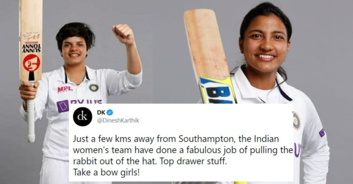 Twitter reactions: Shafali Verma, Sneh Rana shine as India register a historic draw against England