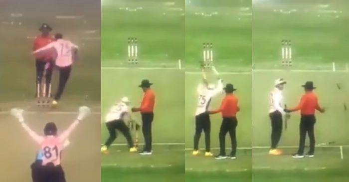 WATCH – Shakib Al Hasan loses his cool on umpire; kicks and uproot stumps in frustration