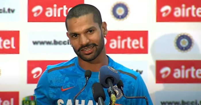 Shikhar Dhawan reacts after being named Team India captain for Sri Lanka tour