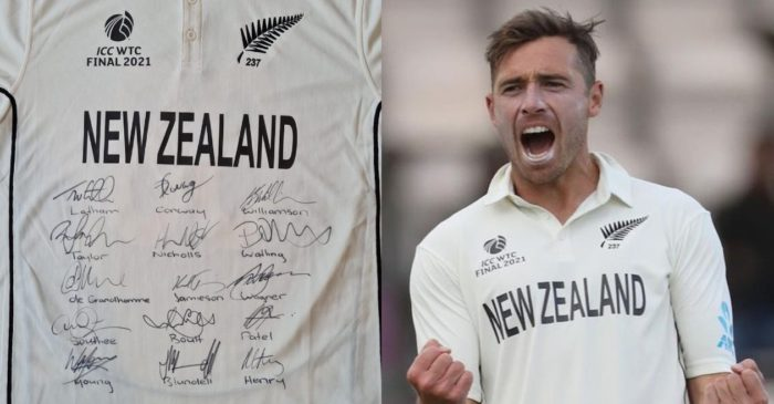 Tim Southee auctions his WTC final jersey for an eight-year-old girl suffering from cancer