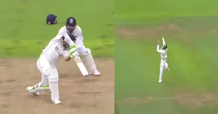WATCH- Virat Kohli takes a splendid catch to remove Tom Latham during the first innings of WTC final