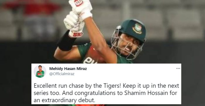 Twitter reactions: Soumya Sarkar's all-round show help Bangladesh to clinch the T20I series against Zimbabwe
