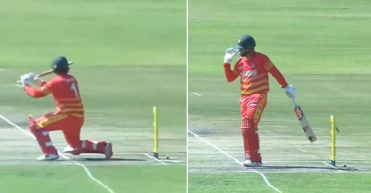 WATCH: Brendan Taylor given out in unusual manner during 2nd ODI against Bangladesh