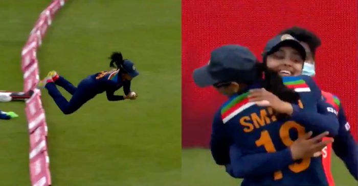 WATCH: 'Wonder Woman' Harleen Deol takes 'catch of the season' during 1st T20I against England