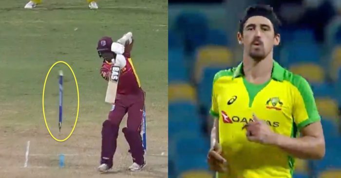 WATCH: Mitchell Starc sends Jason Mohammed's off-stump for a walk during WI vs AUS 1st ODI