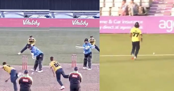 WATCH: Rashid Khan plays a unique 'helicopter shot' against Hampshire in T20 Blast 2021