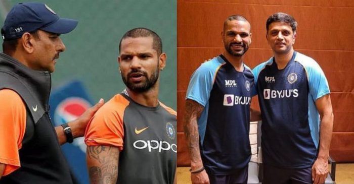 Shikhar Dhawan points out similarities and differences between coaching styles of Rahul Dravid and Ravi Shastri