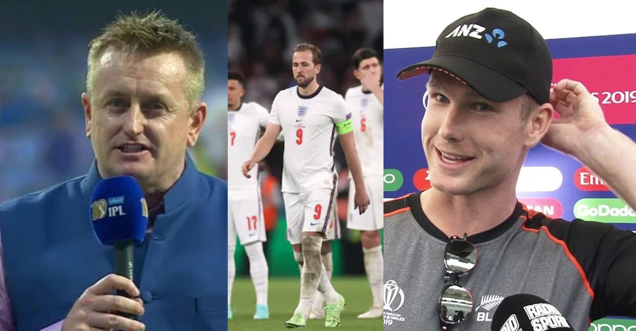Styris, Neesham react to England's Euro Cup final loss by taking a dig at the boundary count rule of 2019 CWC