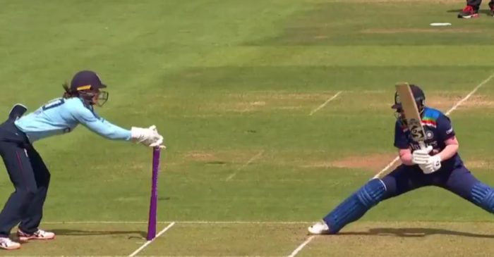 WATCH: Shafali Verma faces a tough time due to lack of LED bails in the second ODI against England