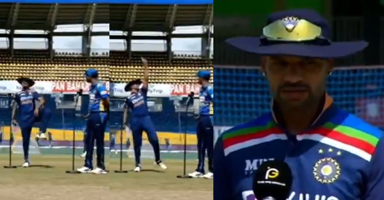 SL vs IND: WATCH – Shikhar Dhawan's 'thigh five' celebration after winning the toss leave fans in splits