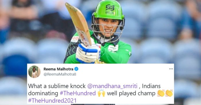 Twitter Reactions: Smriti Mandhana's blistering knock powers Southern Brave to victory over Welsh Fire