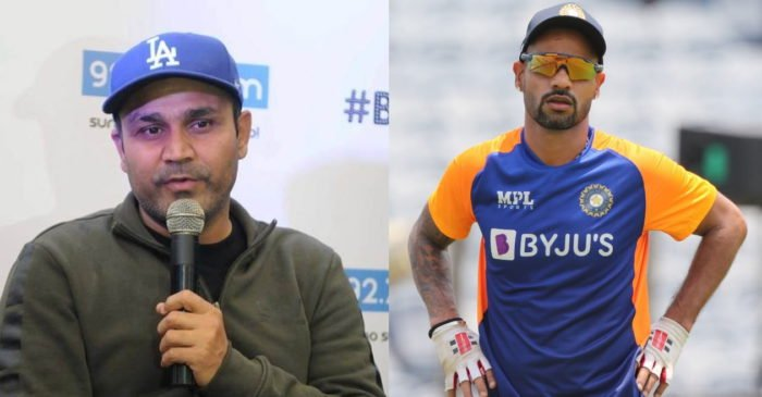 Virender Sehwag names an 'ideal replacement' of current Team India opener Shikhar Dhawan