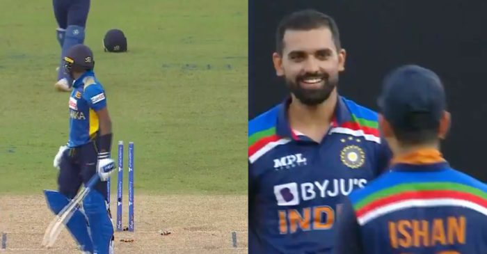 WATCH: Deepak Chahar outfoxes Wanindu Hasaranga with a slower delivery – SL vs IND 2021