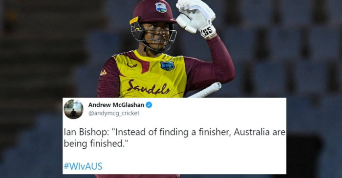 Twitter reactions: Shimron Hetmyer stars in West Indies' dominating win over Australia in 2nd T20I