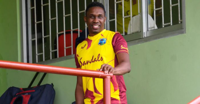Ian Bishop reacts as Dwayne Bravo plays his last game for West Indies on home soil