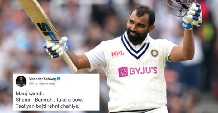 Cricket fraternity erupts as Mohammed Shami hits incredible half-century in Lords Test