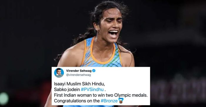Virender Sehwag, Wasim Jaffer leads wishes for PV Sindhu as she wins bronze at Tokyo Olympics 2020