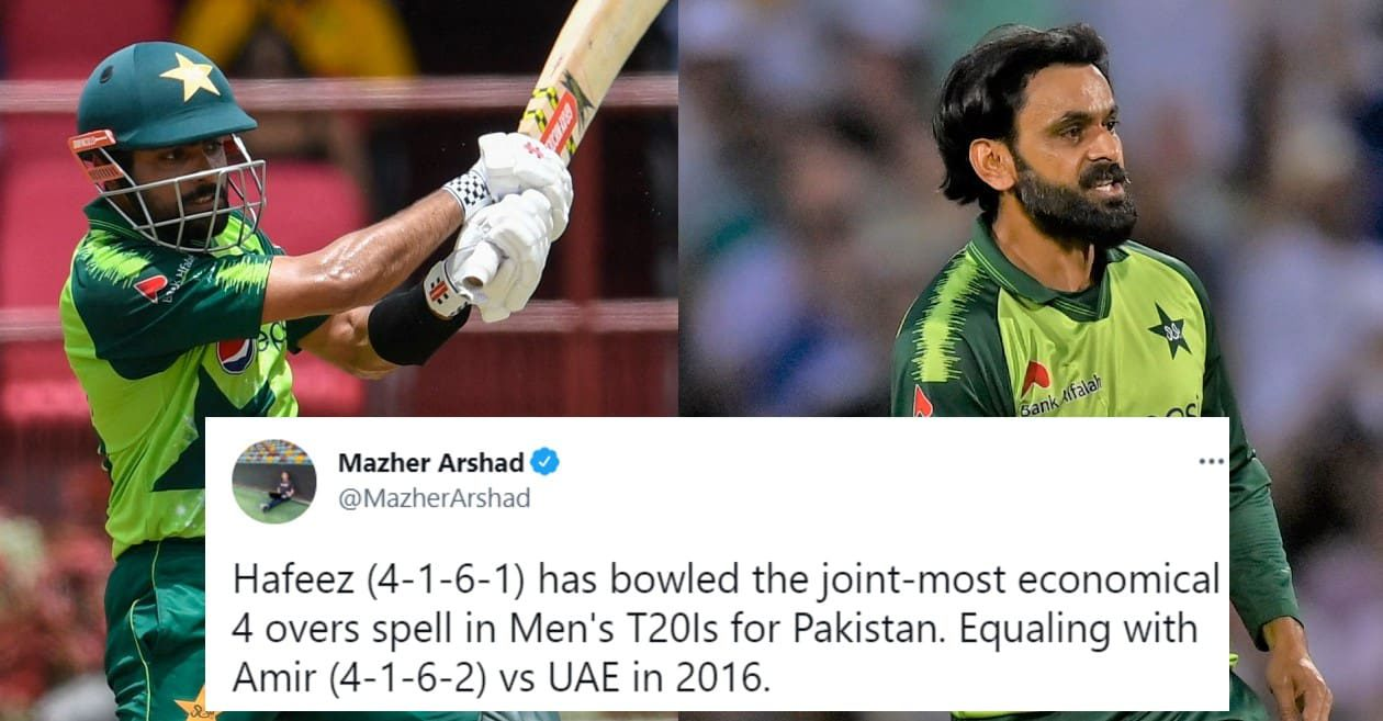 Twitter reactions: Babar Azam, Mohammad Hafeez star in Pakistan's thrilling win over West Indies in 2nd T20I