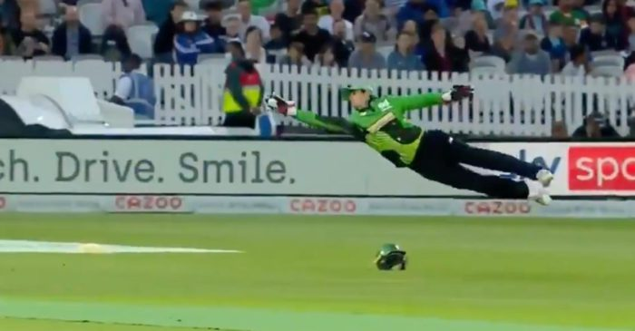 WATCH: Quinton de Kock takes a jaw-dropping catch to dismiss Josh Inglis in The Hundred