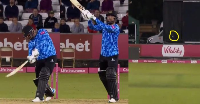 WATCH: Rashid Khan hits an outrageous 'helicopter shot' against Yorkshire in Vitality T20 Blast