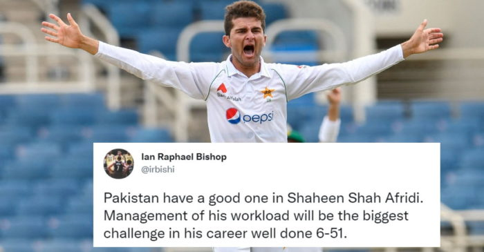 Twitter reactions: Shaheen Afridi rattles West Indies to put Pakistan on driving seat in 2nd Test