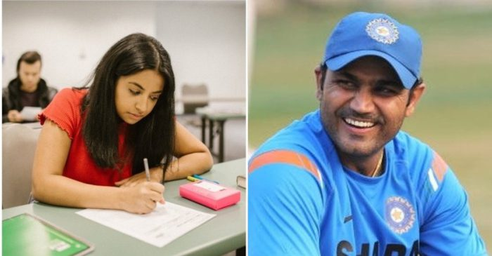 Virender Sehwag reacts hilariously after two students with above 99 per cent scores retake exams