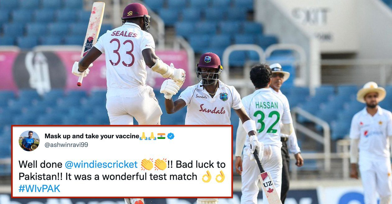 Twitter reactions: Kemar Roach and Jayden Seales guide West Indies to a thrilling one-wicket win over Pakistan