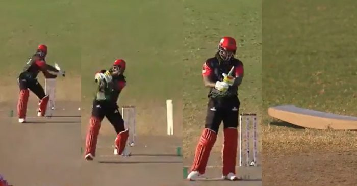 WATCH: Chris Gayle's bat breaks into two pieces during the semi-final clash in CPL 2021