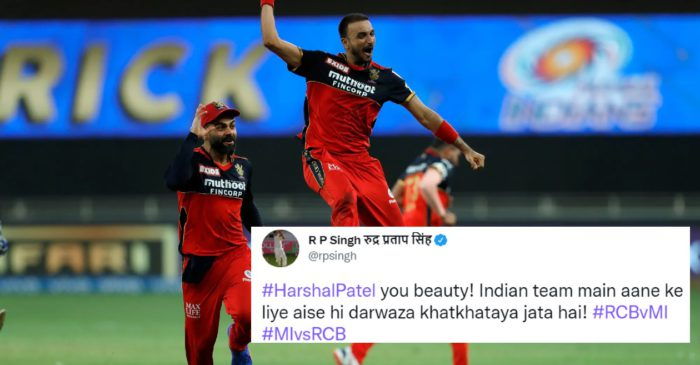 Twitter reactions: Harshal Patel's magnificent hat-trick propels RCB to stunning win over MI