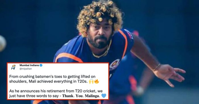 """""""From crushing batsmen's toes to getting lifted on shoulders"""": Mumbai Indians bids farewell to Lasith Malinga"""