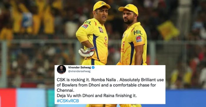 Twitter Reactions: CSK thrash RCB by 6 wickets; inch closer to IPL 2021 playoffs