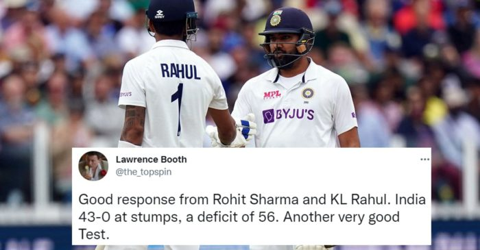 Twitter reactions: Rohit Sharma, KL Rahul start strong as India aim to trim England's lead