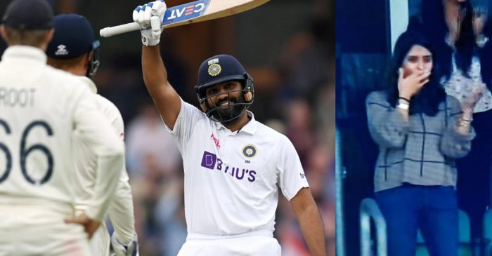ENG vs IND: Ritika Sajdeh sends a flying kiss to Rohit Sharma after India opener hits century in Oval Test