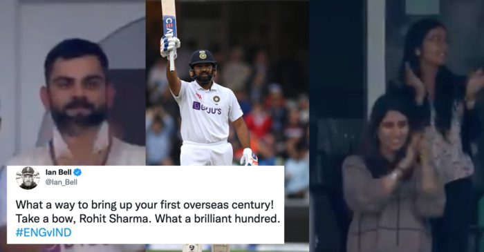 ENG vs IND: Twitter erupts as Rohit Sharma completes his first overseas Test century with a sixer