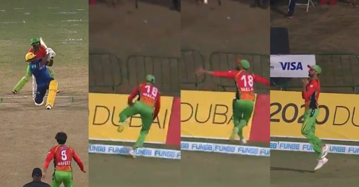 WATCH – Shoaib Malik takes a splendid catch on the boundary line to dismiss Johnson Charles in CPL 2021
