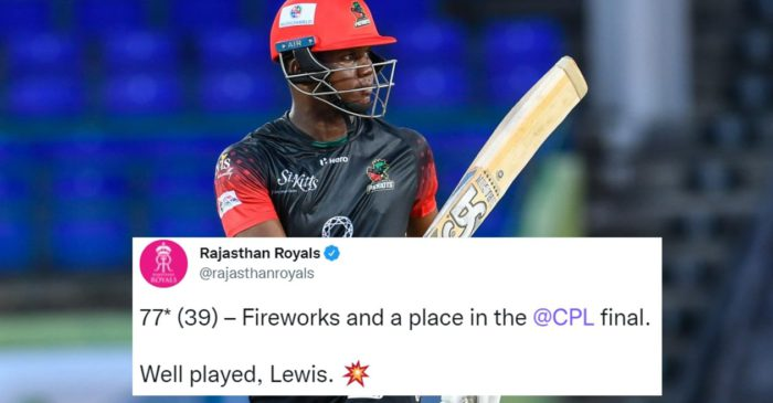 Twitter reactions: Evin Lewis' stunning batting powers St Kitts and Nevis Patriots to final of CPL 2021