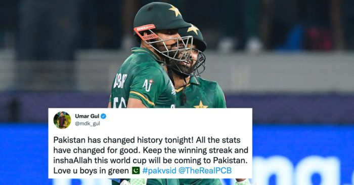 Twitter erupts as Pakistan halts their T20WC losing streak to India with thumping 10-wicket win in Dubai
