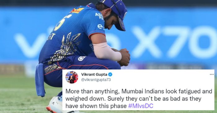 IPL 2021 [Twitter reactions]: MI slip further down after 4-wicket loss against DC