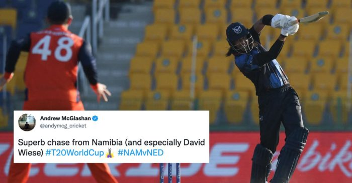 T20 WC 2021 – Twitter Reactions: David Wiese keeps Namibia's hopes alive with historic win over Netherlands