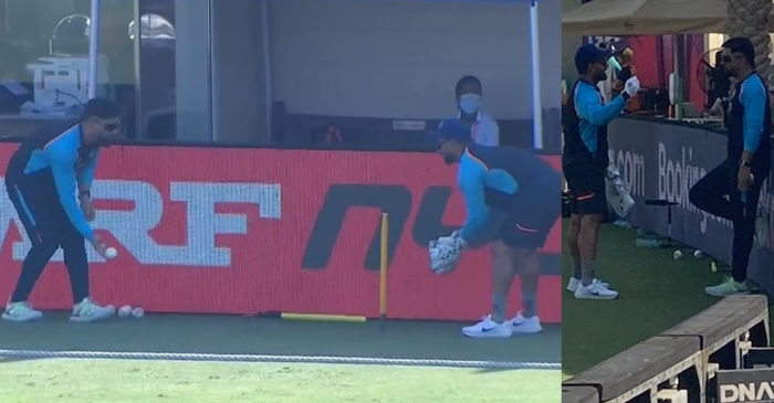 T20 World Cup 2021: WATCH – Rishabh Pant gets keeping lessons from mentor MS Dhoni in Dubai