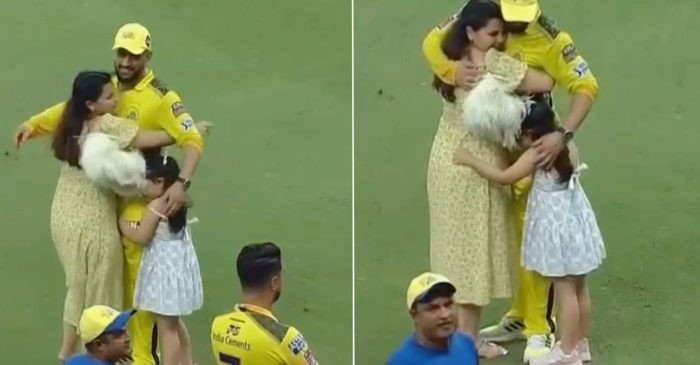 WATCH: MS Dhoni hugging wife Sakshi, daughter Ziva after CSK wins the IPL 2021 title
