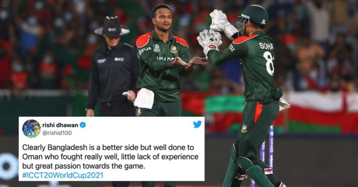 Twitter Reactions: Shakib Al Hasan's all-round show keep Bangladesh alive in T20 World Cup 2021